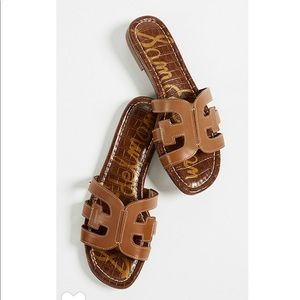 Sam Edelman Bay Cutout Slide Brown Sandal 7 NWT